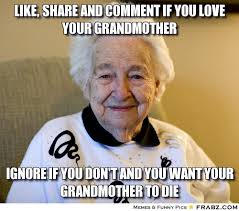 Well... I did post this here. But I didn't share on Facebook. Sorry Grandma